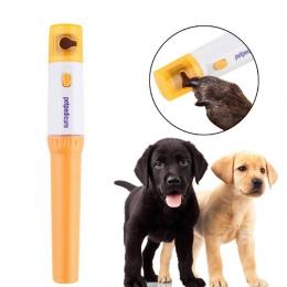 Elektryczny paznokcie zwierząt domowych maszynka do strzyżenia Pedi pies kot łapa szlifierka do pazurów bezbolesne Cutter zwierz