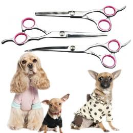 """6 """"7"""" ze stali nierdzewnej Pet grooming zakrzywione ostrze nożyczki pies kot do cięcia nożyczki do włosów fryzjer zakrzywione/w"""