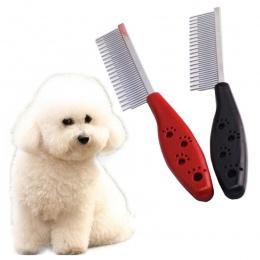 19.5*3 cm szczotka dla psa rzuca pchli targ szpilka ze stali nierdzewnej szczotka grzebień dla psów koty czyste szczotka do włos