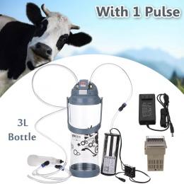 3L pojedyncze głowy impulsu elektrycznego mleko dojenia maszyny przenośne owce kozy Milker przenośne 110 V-220 V 0.8 Gal pompa p