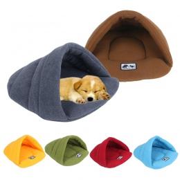 6 kolory miękkie Polar łóżka dla psów zimowe ciepłe podgrzewana mata dla małych psów Puppy Kennel dom dla kotów do spania torba