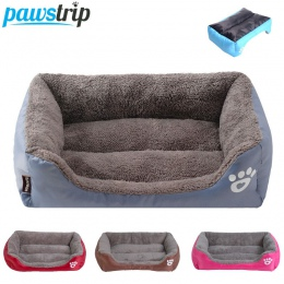 S-3XL 9 kolorów Paw Pet Sofa łóżka dla psów wodoodporne dno miękki polar ciepłe łóżko dla kota dom Petshop cama perro