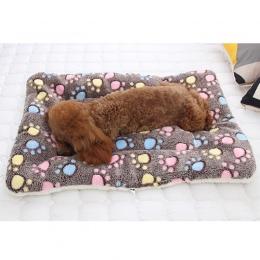 Miękkie flanelowe mata dla zwierząt domowych łóżko dla psa zima zagęścić ciepłe kot kocyk dla psa puppy spania okładka ręcznik p