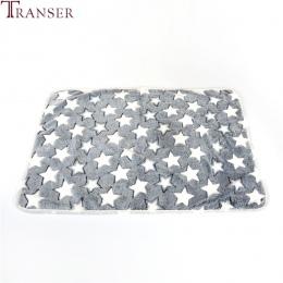 Transfer łóżko dla psa miękkie flanelowe polar gwiazda druku ciepły kocyk dla zwierząt domowych łóżko pokrywa Mat dla średniej w