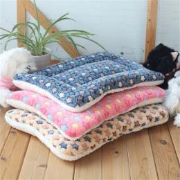 Zima ciepłe posłanie dla psa miękki polar kocyk dla zwierząt domowych żwirek dla kota Puppy mata do spania dla małych i dużych p