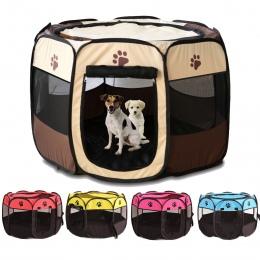 Przenośny składany kojec zwierzęta domowe są skrzynia dla psa pokój Puppy ćwiczeń hodowla transporter dla kota, odporny na dział