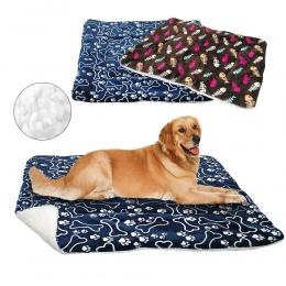 Zima legowisko dla psa poduszka dla zwierząt domowych koc ciepłe Paw Puppy kot łóżka z polaru dla małych i dużych psów koty Pad