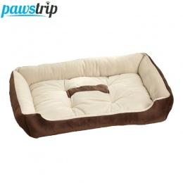 6 rozmiar miękki polar zwierzęta pies poduszka do łóżka z materacem na kości druku duży rasy Dog łóżka dla Labrador Golden retri