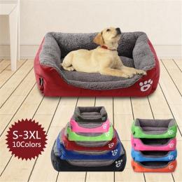 Łóżka dla psów łapa zwierzę Sofa wodoodporna dno miękkie polar ciepłe łóżko dla kota dom Petshop Dropshipping cama perro