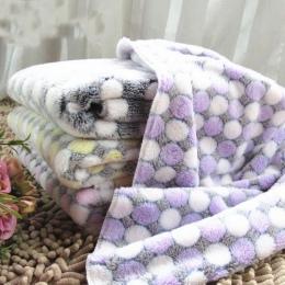Miękkie flanelowe zwierzęta domowe są kocyk dla psa kropki drukowane oddychające łóżko dla psa i kota mata ciepłe zwierzęta domo