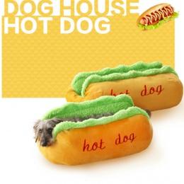 Hot Dog łóżka dla psa zdejmowane miękkie mata dla zwierząt domowych Sofa śliczne łóżka dla przytulny Puppy miot kot poduszka do