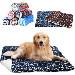 Zwierzęta domowe są duży kocyk dla psa zima Pet łóżko mata łapa drukuj Puppy dom dla kota z polaru krzesło psy poduszki koty Pad