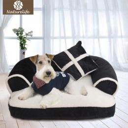 Naturelife ciepłe podwójne poduszki łóżko dla psa miękka bawełna pies dom Plus rozmiar łóżko dla zwierząt domowych dla psów i ko