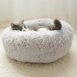 Ciepły polar łóżko dla psa 4 rozmiary okrągłe zwierzęta leżanka Tyteps poduszka dla średnich i dużych psów i kot zima buda dla p