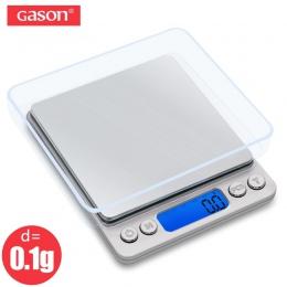 GASON Z1s cyfrowa waga kuchenna Mini kieszonkowy precyzyjna biżuteria ze stali nierdzewnej waga elektroniczna waga złoty gramów