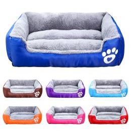 Pies łóżko dla małych średnich dużych psów 3XL rozmiar zwierzęta pies dom ciepłe bawełniane Puppy legowiska dla kotów dla Chihua
