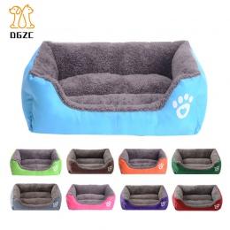 Zima ciepłe posłanie dla psa Sofa wodoodporna polar legowisko dla kota mata krzesło kanapa poduszka dla zwierząt domowych łóżko