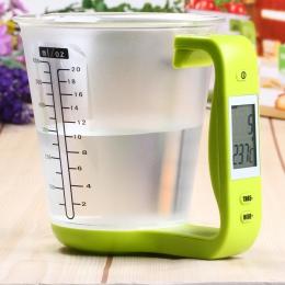 Hostweigh miarka waga kuchenna cyfrowy zlewki wagi elektroniczne narzędzie skala z wyświetlacz LCD temperatura pomiaru kubki