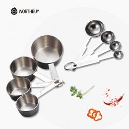 WORTHBUY ze stali nierdzewnej miarka kuchnia miarka łyżka miarka do pieczenia kawy i herbaty akcesoria kuchenne narzędzie pomiar