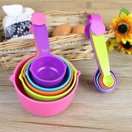 5 sztuk/zestaw miarki kolorowe plastikowe miarka łyżka przydatne cukier ciasto do pieczenia łyżka do pieczenia kuchenne narzędzi