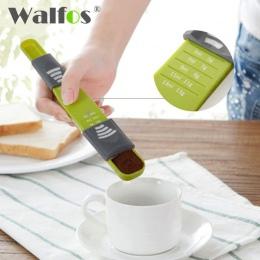 WALFOS miarka kubek podwójny koniec osiem straganów regulowana skala miarki pomiar łyżka narzędzie do pieczenia akcesoria kuchen