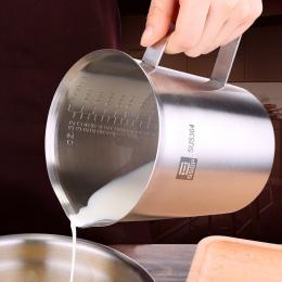 BEEMSK ze stali nierdzewnej o grubości 304 miarka ze skalą 2000 ml 1000 ml 500 ml pieczenia w kuchni o dużej pojemności miarka
