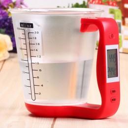Miarka waga kuchenna cyfrowy zlewki wagi elektroniczne narzędzie skala z wyświetlacz LCD temperatura pomiaru kubki