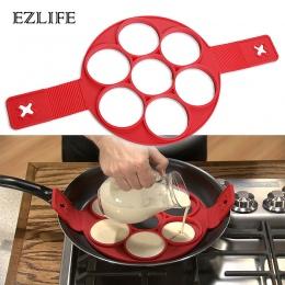 EZLIFE jajko sadzone foremka do pankejków ekspres do silikonowe formy non-stick prosta obsługa naleśnik omlet formy akcesoria ku