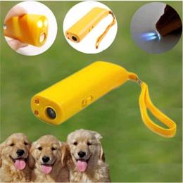 Zwierzęta domowe są odstraszacz psów anty szczeka szczekanie kark przyrząd treningowy trener LED ultradźwiękowy 3 w 1 Anti Barki