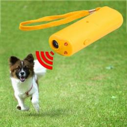 LED ultradźwiękowy przeciwko szczekom psa trener Repeller kontroli trener 3 w 1 anty szczeka szczekanie kark urządzenie treningo