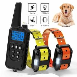 800 m obroża dla psa, obroża zwierzęta domowe są pilot zdalnego sterowania wodoodporna akumulator z wyświetlaczem LCD dla wszyst