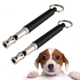 1 sztuk zwierzęta pies kot szkolenie posłuszeństwo czarny gwizdek ultradźwiękowy Supersonic dźwięk skoku cichy trening gwizdki z