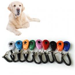 1 sztuka Pet Cat Dog clicker do szkolenia z tworzywa sztucznego nowy psów kliknij trener pomocy zbyt regulowany pasek na nadgars