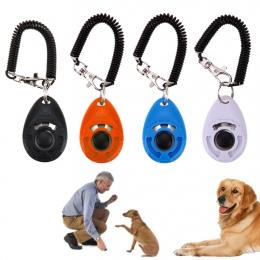 1 pc Pet trener obroża dla zwierząt domowych dla psów Clicker regulowany dźwięk brelok do kluczy i pasek na nadgarstek Doggy dat