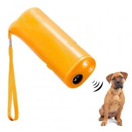 Ultradźwiękowy pies szkolenia odstraszacz kontroli trener 3 w 1 anty-szczeka szczekanie kark psów Pet przewoźnika na zewnątrz pr