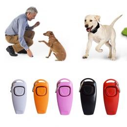 10 kolory Dog Training Whistle Clicker Pet Dog Trainer pomocy przewodnik psa gwizdek Pet sprzęt produkty dla psów Pet Supplies D