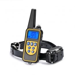 Akumulator wodoodporny elektroniczny obroża dla psa przestać szczekać wyświetlacz LCD 800 m pilot zdalnego porażeniu prądem elek