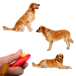 Wysokiej jakości uniwersalny zwierząt zwierzęta pies kot clicker do szkolenia posłuszeństwa pomocy pasek na nadgarstek narzędzia