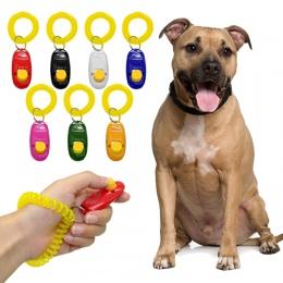 Dla zwierząt domowych clicker do szkolenia uniwersalny zwierząt urządzenie do szkolenia psów dźwięk posłuszeństwa pomocy pasek n