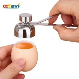 Ossayi metalowe jajko nożyczki obcinacz do jaj powłoki otwieracz do butelek ze stali nierdzewnej gotowane surowe jajko otwórz kr