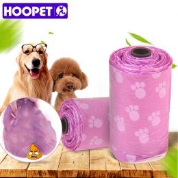 HOOPET zwierzęta worek na odpady pies żwirek torba 4 spakować torby woreczek na przybory toaletowe śmieci Pet Supplies