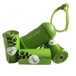 Pet N dla zwierząt domowych torebki na odchody zwierzęce przyjazne dla środowiska 3 rolki z 1 dozownik torebki na odchody psów p