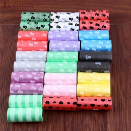 Przeniesienie artykuły dla zwierząt 10 rolek 150 pcs drukowanie kot pies torebki na odchody zwierzęce na zewnątrz domu czyste do