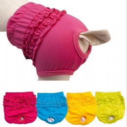 Gorące kolory śliczne majtki dla zwierząt domowych krótkie suki w sezonie spodnie sanitarne dla dziewczyny pieluchy dla szczenią