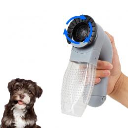 Elektryczne z tworzywa sztucznego dla zwierząt domowych urządzenie ssące ssanie przenośny kot i pies masaż odkurzacz rodziny dla
