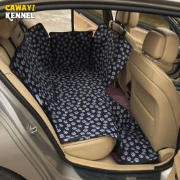 Hodowla CAWAYI pies przewoźnicy wodoodporna tylna powrót Pet pies pokrycie siedzenia samochodu maty hamak Protector z pasem bezp