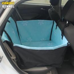 Hodowla CAWAYI Pet przewoźnicy pies pokrycie siedzenia samochodu na psy koty mata koc z powrotem hamak Protector transportin per