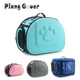 EVA czysty kolor Pet Carrier torba przenośna na zewnątrz jednolity kolor kot składany pies podróży zwierząt domowych torba Puppy
