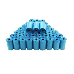 Niebieski 40 rolek zwierzęta domowe są torebki na odchody zwierzęce pies kot odpady odbiór czysta torba rolka 15 torby
