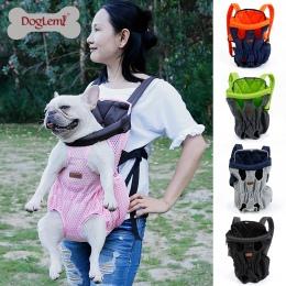 Dla zwierząt domowych do przenoszenia plecak podróżna na ramię duże torby przewoźnika z przodu klatki piersiowej uchwyt dla szcz